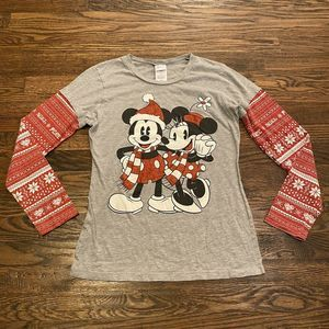Disney Mickey & Minnie Mouse Shirt Junior Sz Large